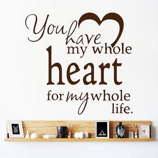 Decor Kafe My Whole Heart For My Whole Life Wall Sticker 35x33 Inch)