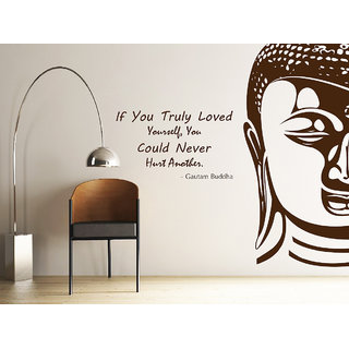 Decor Kafe Buddha Wall Sticker (28x24 Inch)
