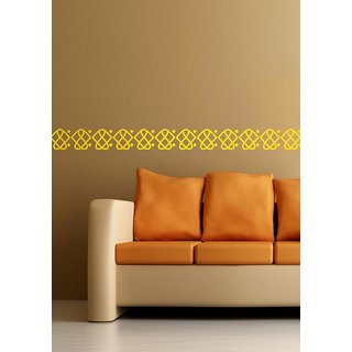 Decor Kafe Decal Style Diamonds With Dots Border Wall Sticker Size-S 1204 Inch Color-Black
