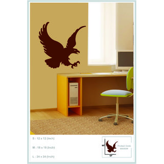 Decor Kafe Decal Style Eagle Wall Sticker (18x18 Inch)
