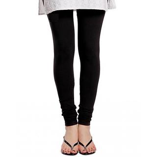 VSTYLE Slim Fit Black Color Cotton-Lycra Leggings (Best Quality)