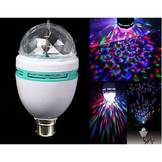 MAHAVIRA Diwali Lights Disco Color LED Rotating Lotus Bulb Lamp Diwali / Christmas /Eid