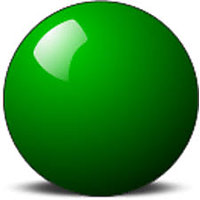 SNOOKER GREEN BALL (SINGLE PIECE )