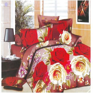 Eleganzas 3D Floral Bedsheet