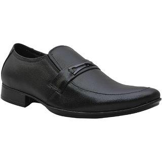 Leather King Men's Black Formal Shoes