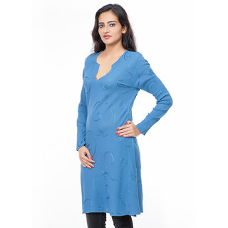 Best selling cotton embroidered kurtie