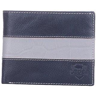 Leder Mart 2200 Men's Designer Leather Wallet (Black, FL001)