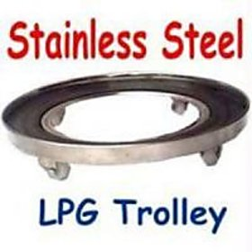 SARAH Stainless Steel LPG Gas Cylinder Trolley