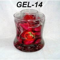 Red Tango Glass Candle Holder