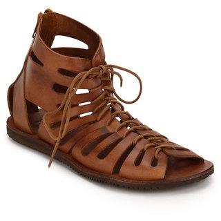 3c53c8d2a8a Estd. 1977 Men s Brown Lace-Up Sandals