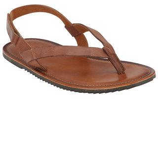 53a5b6e08d6e Buy ESTD .1977 Men Casual Tan Leather Sandal Online   ₹624 from ...