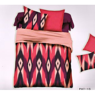 Welhouse India Elegent Print Cotton King Bedsheet with two pillow covers