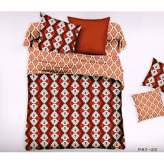 Welhouse India Graphic Print Cotton King Bedsheet with two pillow covers