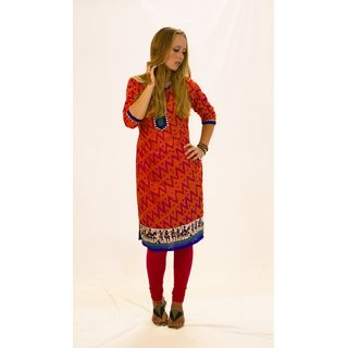 Printed kurti in jaquard fabric