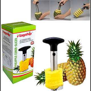 traders5253 Plastic Black,Silver Pineapple Slicer (No. of Pieces 1)