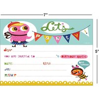 Birthday Invitation Card On Metallic Sheet (Pack Of 50 Cards) BPC-008
