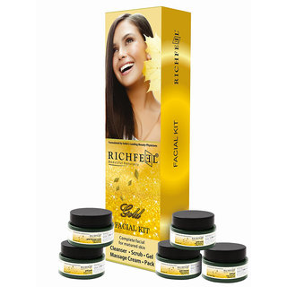 Richfeel Gold Facial Kit  (5*50gm)