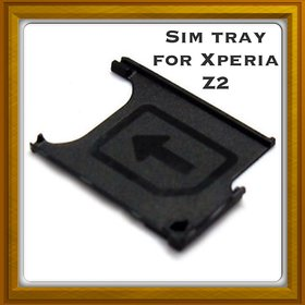 New Sim Card Slot Tray Holder - Replacement Part For Sony Xperia Z2 - Black