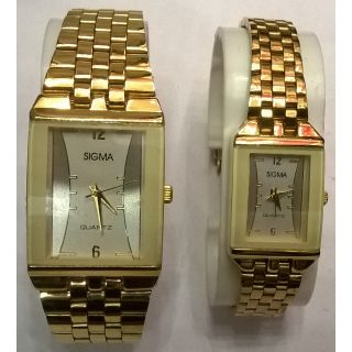 couple wrist watch set gold plated sig sim