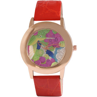 Jyoti Kalakriti Tempting Red Analog Watch