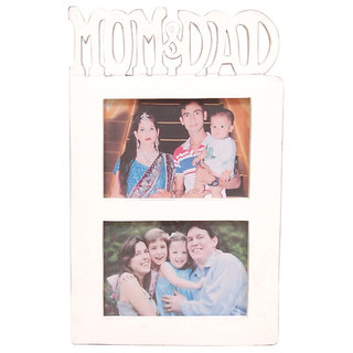 Buy Onlineshoppee Wooden And Antique Wall Hanging Mom Dad Collage