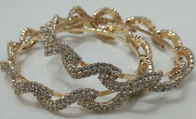 Jhulelal Jewellery Shop Gold Plated Gold Alloy Bangles For Women