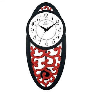 rigas p999 pendulum wall clock red black white