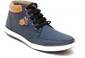Orra Mens Black  Blue lace-up Smart Casuals Shoes
