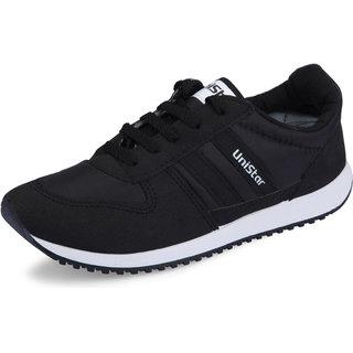 Buy Unistar Mens Black Running Shoes