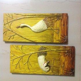 Mural bird wall piece