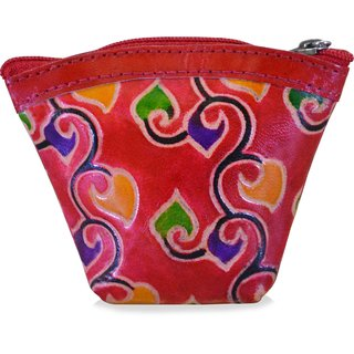 arpera printed red coin pouch C11405-3C