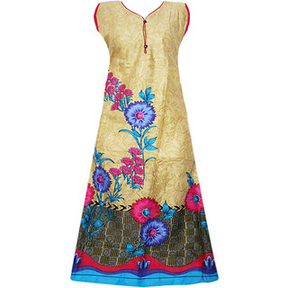 Srinika blue base floral printed kurti for women