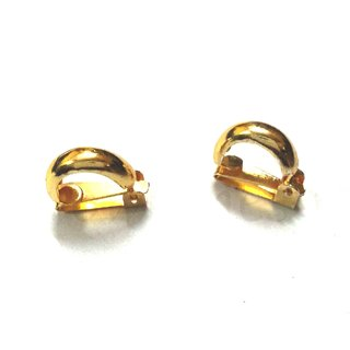 Clip On Golden Tone Non Pierced Earrings For Men Women