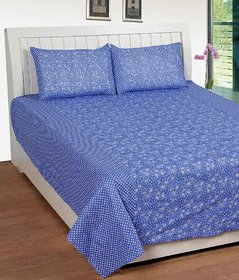 Geo Nature Collection Of Poly-Cotton Double Bedsheet with 2 pillow cover GB2S001