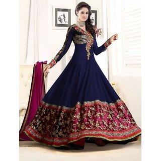 FAB AVSAR New Attractive Designer Navy Blue Anarkali Suit