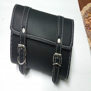 Black Stylish Squar Water Proof Saddle Bag Back Carrier Tool Bag Enfield bullet
