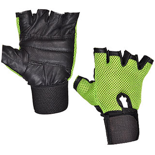 Gym Gloves with Green net