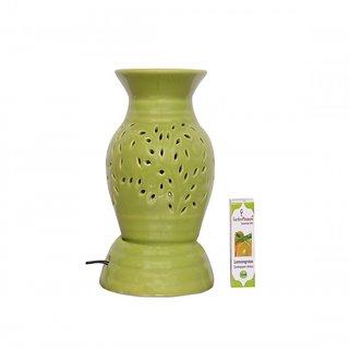 Garden Pleasure Electric Aroma Diffuser Green Ethnic Design with Lemongrass Oil