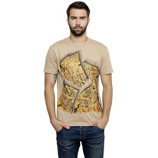 Hand-painted Egyptian Scribbles Beige T-shirt