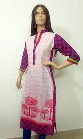 Elegant design casual womens kurti with full sleaves