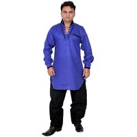 Arzaan Creations Blue Designer Kurta With Black Shalwaar