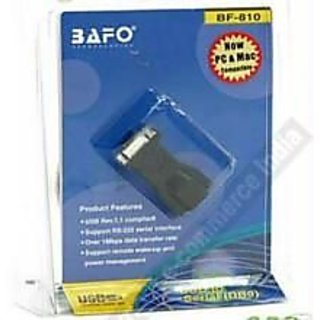 CROWN - Premium BAFO convert USB port to Serial port DB9 Converter Adapter Cable