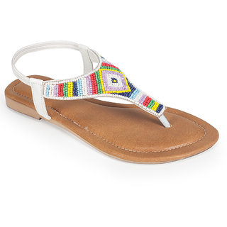 09378a10f126 Buy Khadims Cleo White Flat Sling-Back Sandal Online   ₹699 from ...