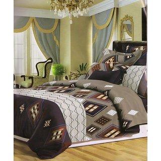 valtellina Geometrical Polyester Diwali Gift Box Bedsheet with 2 pillow(AC-008)