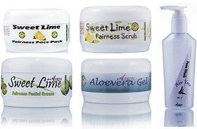 Herbal Skin Whitening Sweet Lime Fairness Face Pack