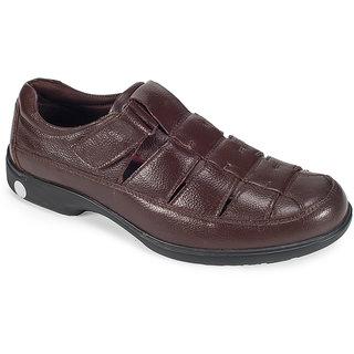 9b038bb6b9c Buy Khadims British Walkers Brown Leather Slip-On Sandal Online ...
