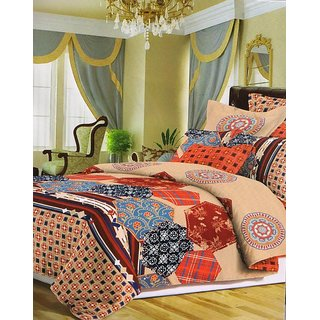 valtellina Print Polyester Diwali Gift Box  Bedsheet with 2 pillow cover(AC-011)