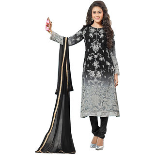 MANAR - BLACK  SILVER SHADED SUIT