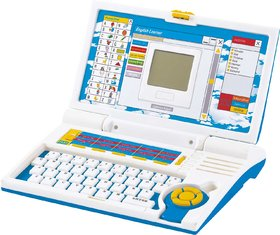Prasid English Learner Kids Laptop 20 Activities (Blue)