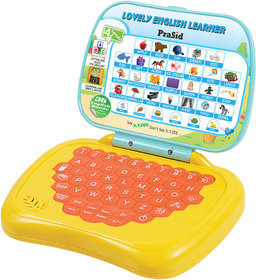 PraSid Lovely English Learner Kids Laptop LemonOrange